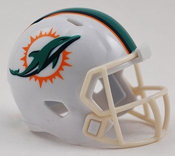 MIAMI DOLPHINS NFL Riddell Speed POCKET PRO MICRO / POCKET-SIZE / MINI Football Helmet:   The Riddell SPEED POCKET PRO Football Helmet is an incredible 2-inch reproduction of the Riddell Speed helmet that is worn by many players on the collegiate and professional gridiron. This helmet is brand new, and arrives to you in the original factory packaging!  Buy with confidence!!! All domestic and international shipments include tracking information and are fully insured at no additional cos...