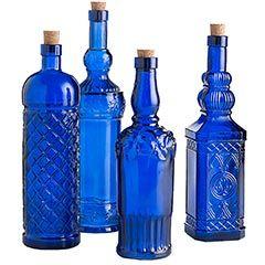 wow: Color Glasses, Blue Glasses Bottle, Cobalt Glasses, Cobalt Blue, Colbalt Blue Kitchens, Assort Cobalt, Deep Blue, Cobalt Bottle, Blue Bottle