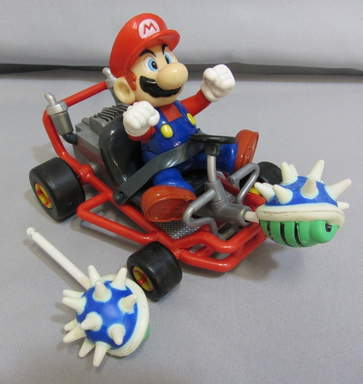 "1999 Toy Biz Mario Kart 64 ""MARIO w/ SHELL"" Nintendo Video Game Superstars N64  $69.99 via Amazing_Heroes"