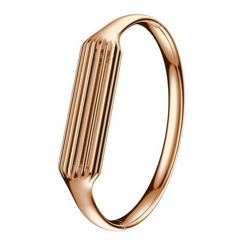 Rose Gold Stainless Steel Bangle For Fitbit Flex 2