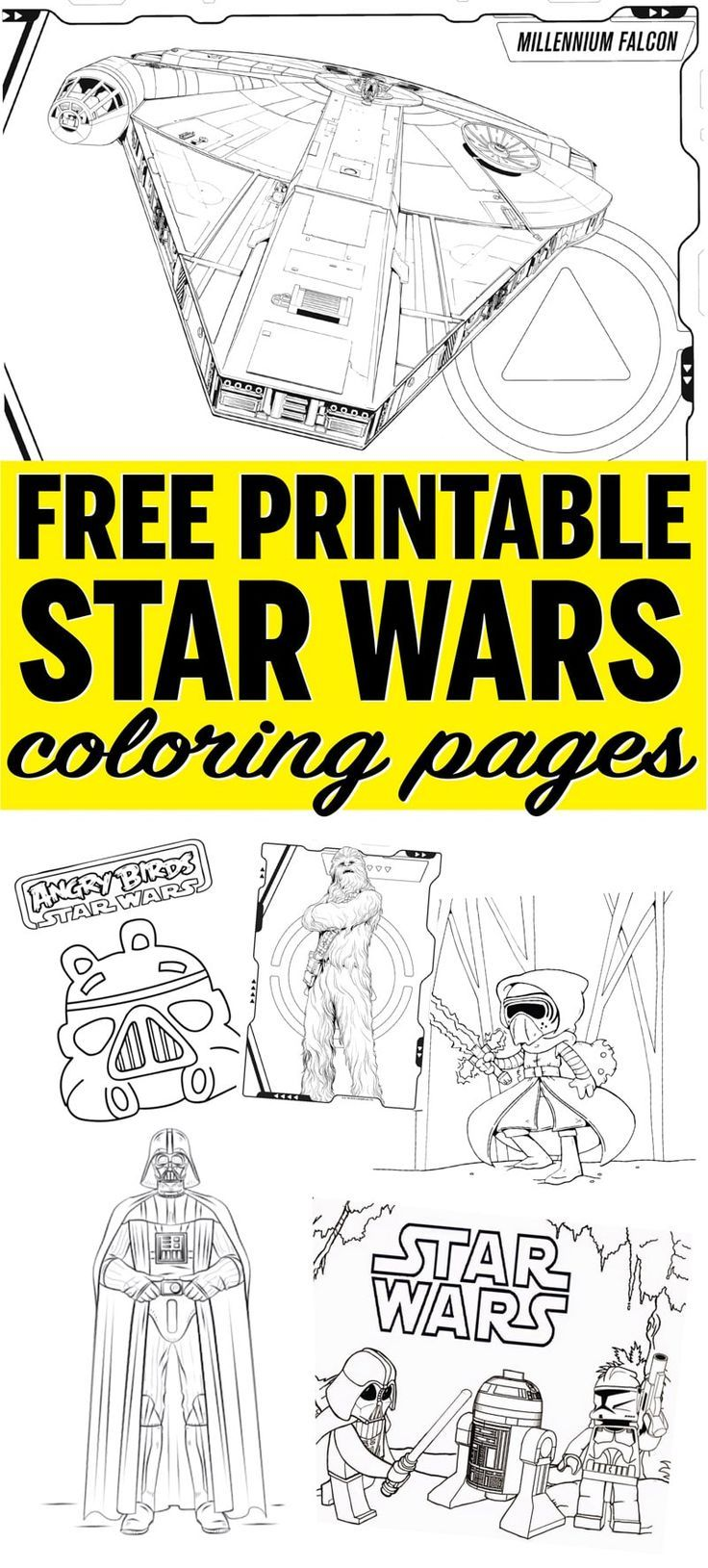 Free Printable Star Wars Coloring Pages Star Wars Printables Star Wars Coloring Sheet Star Wars Colors