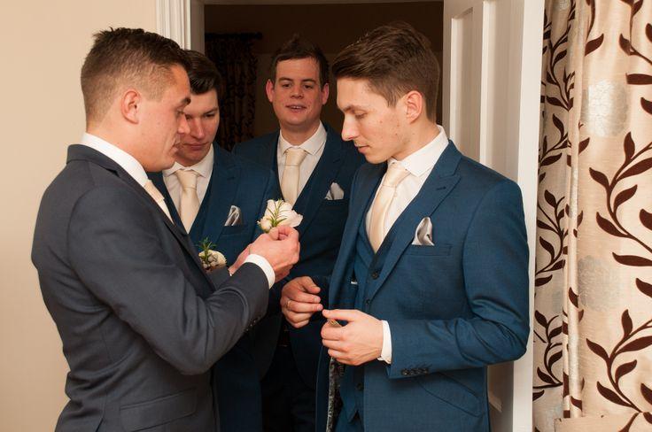 The Groom, Best Men and Usher - #thehitchcockwedding