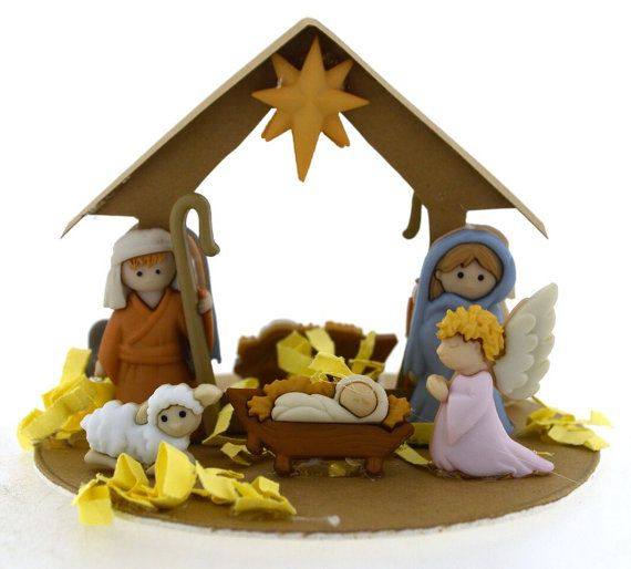 DIY Ornament Kit  Nativity  Jesse James by Missbuttonsgalore