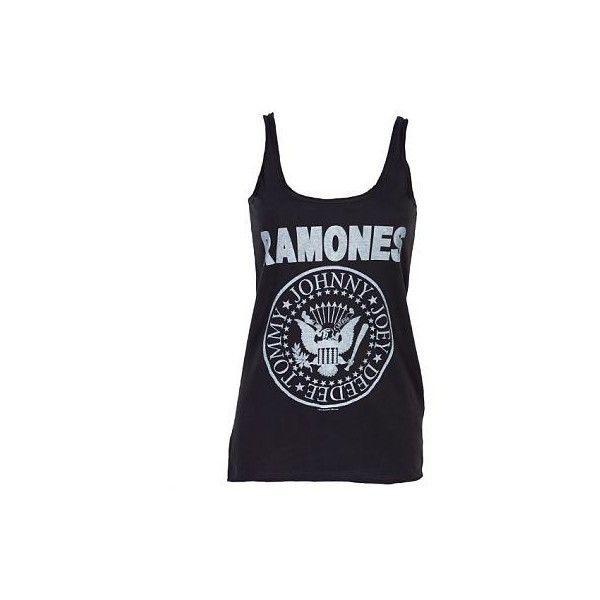 Ladies Ramones Logo Strappy Vest From Amplified Clothing :... ($26) ❤ liked on Polyvore featuring tops, shirts, tank tops, blusas and bluzki
