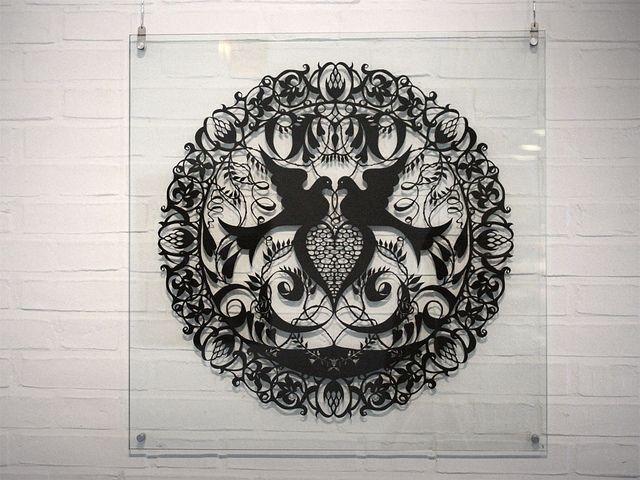 Amazing Paper-Artwork by Karen Bit Vejles- I like the presentation here a lot!!