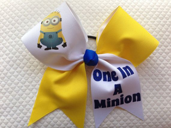 Hey, I found this really awesome Etsy listing at https://www.etsy.com/listing/187031752/minion-cheer-bow-despicable-me