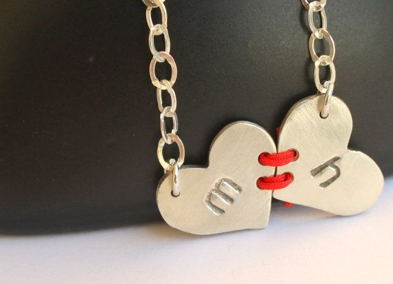 do this with Acrylic and scrapbook paper! :D: Heart Sterling, Personalized Jewelry, Sweet, Jewelry Visible, Gifts Ideas, Heart Necklaces, Valentines Day, Commitment Heart, Sterling Necklaces