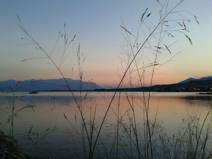 Ηλιοβασίλεμα με χρώμα πορτοκαλί! Τοποθεσία Καλόγερος Στυλίδα