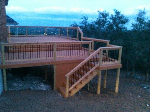 Two Tier Decks Cedar Patios Decks Patio Enclosures Deck