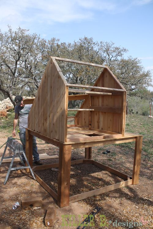 Saltbox Chicken Coop, Run, and Planter with directions