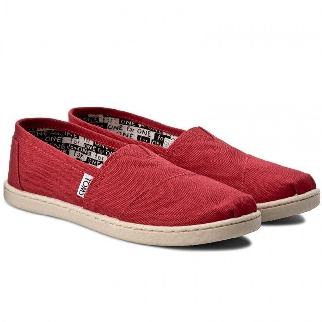 Półbuty TOMS - Classic 012001C13 Red