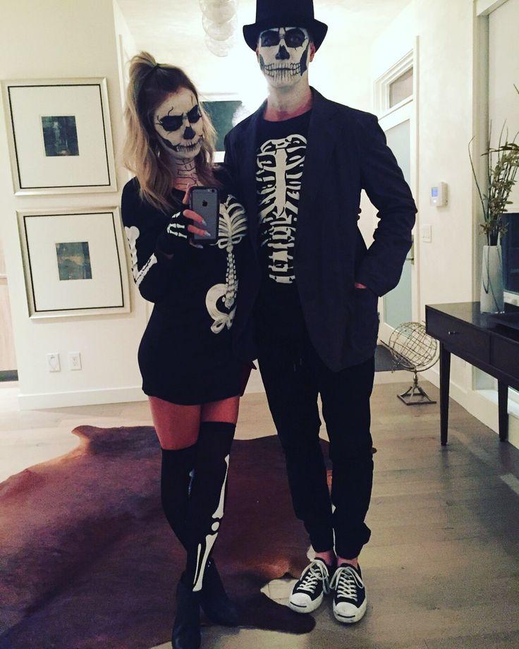 Halloween 2015#fashion #style #thebasicblond #ootd #ootn #overthekneeboots #outfit #fashionblogger #blog #styleblog #lifestyleblog #beautyblog #lbd #yeezus #kanye #kendall #kylie #gigi #halloween #skull #dressup #couple