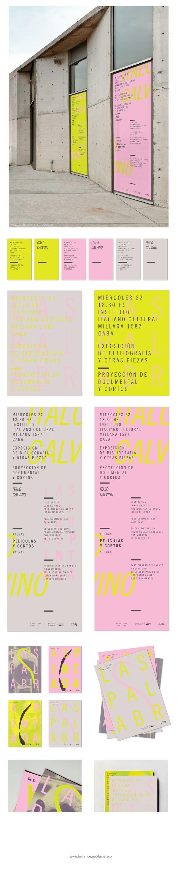 PINK & YELLOW Las Palabras Pintadas by Lucia Izco by Lucía Izco, via Behance