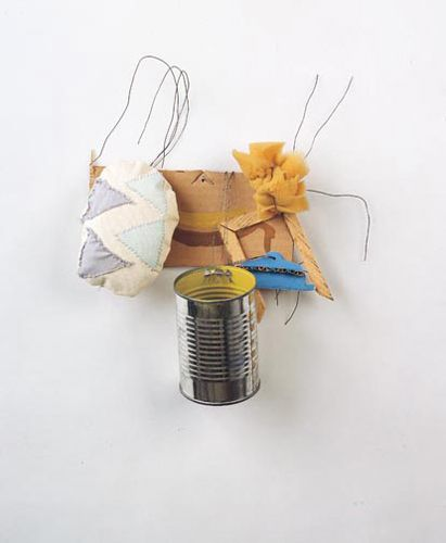 "Richard Tuttle. ""Two or More IV,""  1984. (Collage, mixed media,   14 x 14 x 4.5 inches)"