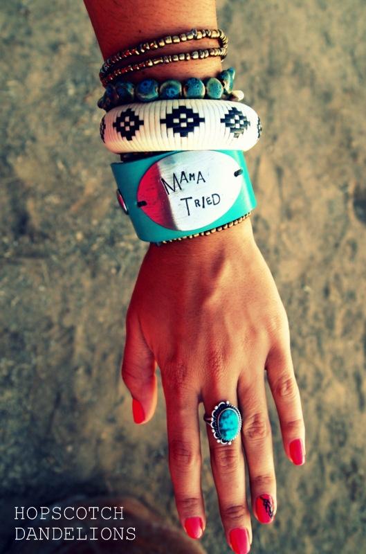 Handmade custom leather cuffs by Hopscotch Dandelions https://www.facebook.com/HopscotchDandelionsWestern Jewlery, Custom Leather, Country Girls, Jewelry Accessories, Westerns Touch, Hopscotch Dandelions, Leather Cuffs, Handmade Custom, Jewels