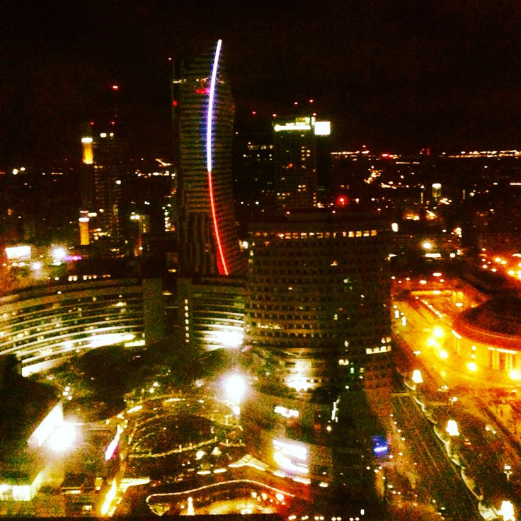 Warsaw by night