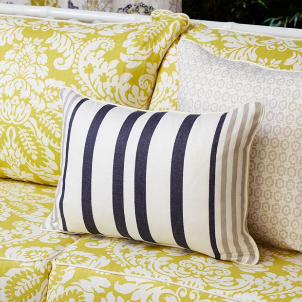 Warwick Fabrics: ALEXIA / linen cushions / fabric textiles