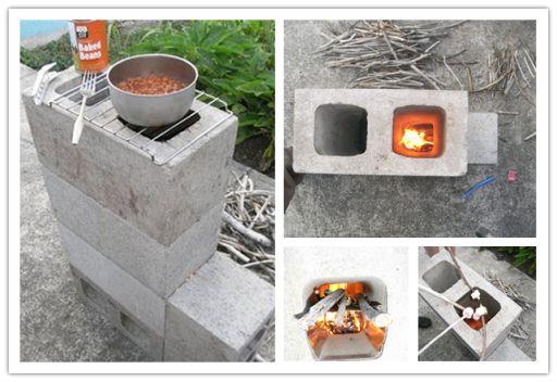 How To Make DIY Concrete Block Rocket Stove | DIY Tag