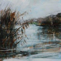 Hamsey Cut Reeds. Oil and Acrylic 30x30cm £185