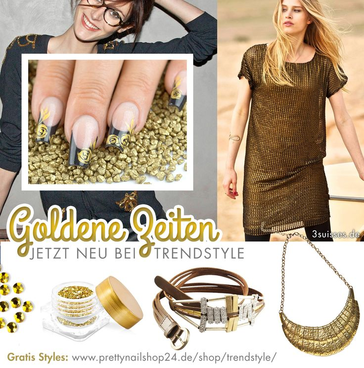 #trendstyle #gold #stars #nails http://www.prettynailshop24.de/shop/trendstyle/lieblingsfarbe/we-love-gold_3.html