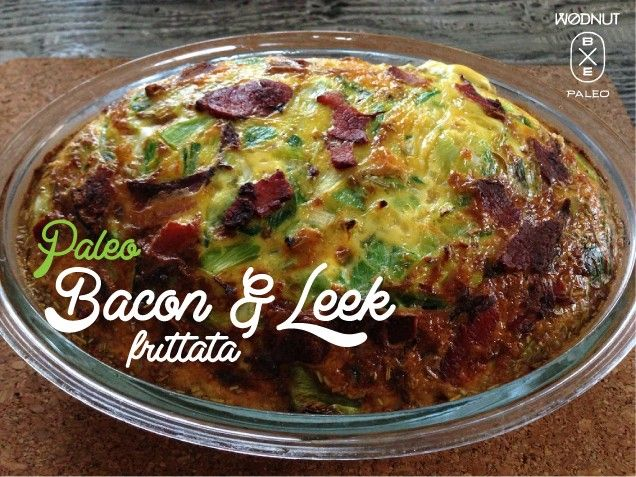 Paleo Bacon and Leek Frittata (Thermomix)