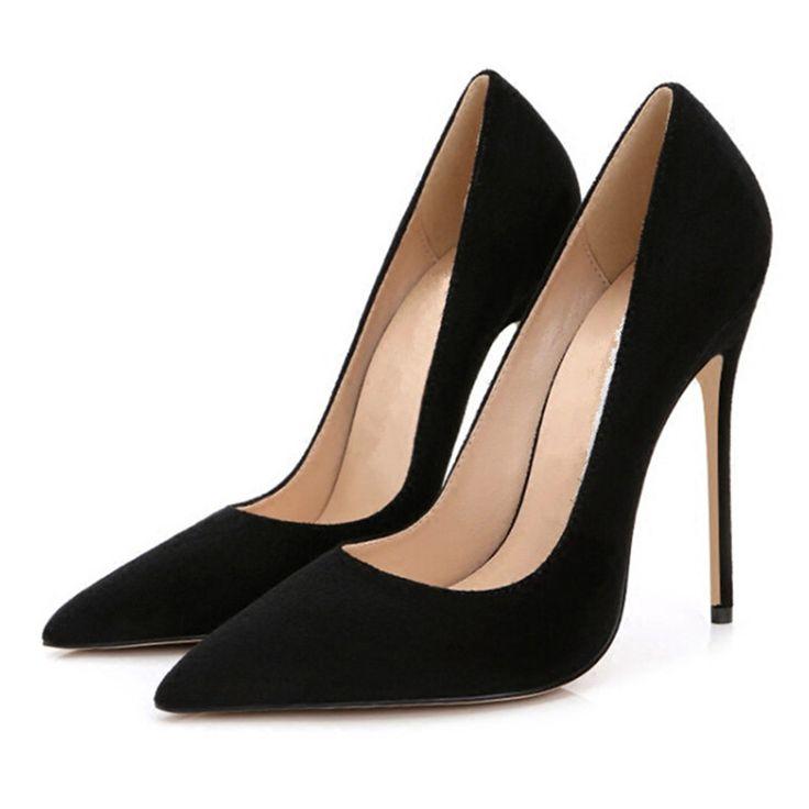 Шпильках Женская Обувь Высокие Каблуки 12 СМ Высокие Каблуки Фиолетовые Туфли насосы Женщин Каблуки Сексуальные Острым Носом Свадебные Туфли Для Женщин B 0049 купить на AliExpress