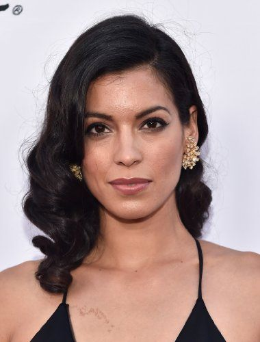 Stephanie Sigman//female, adult, brown eyes, medium skin, dark hair, black hair, medium length hair, Latina, Mexican