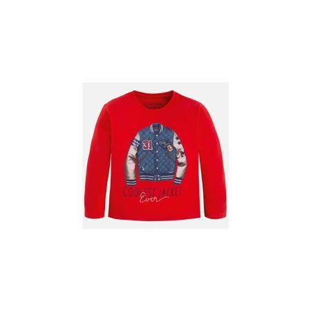Mayoral Футболка с длинным рукавом для мальчика Mayoral  — 1399р.  Хлопковая футболка с длинными рукавами - это  базовая вещь в любом гардеробе. Благодаря длинным рукавам и легкому составу, ее можно носить в любое время года, а яркий орнамент, подчеркнет индивидуальный стиль Вашего ребенка!  Дополнительная информация:  - Крой: прямой крой. - Страна бренда: Испания. - Состав: хлопок 100%. - Цвет: красный. - Уход: бережная стирка при 30 градусах.  Купить футболку с длинным рукавом для…