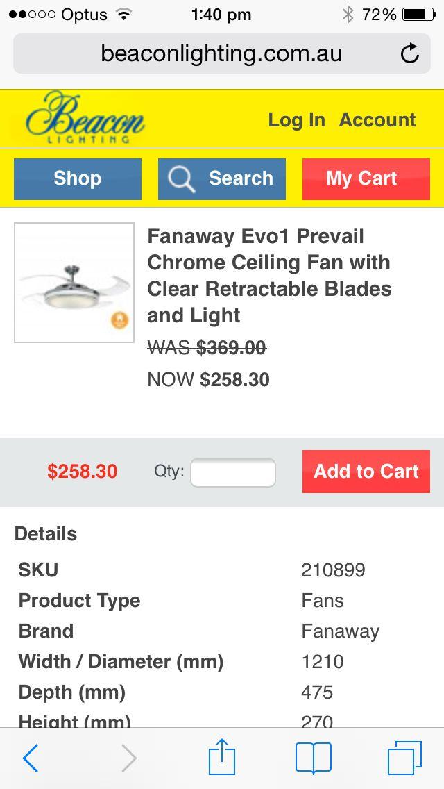 Beacon lighting ceiling fan