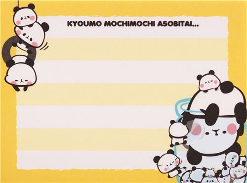 colorful Mochi panda bears mini Note Pad by Kamio from Japan 5