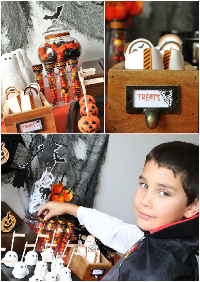 Bird's Party Blog: Halloween: Kid's Dessert Table + HALF PRICE Printables!