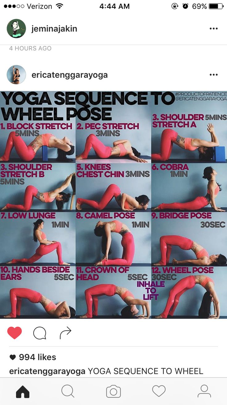Yoga sequence to wheel pose