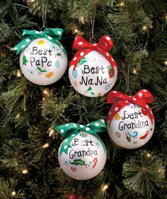 Send them the special gift of a Best Grandparent Ornament. This glistening glass ornament is trimmed with a playful polka dot ribbon for an extra adorable touch.