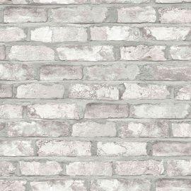 Fantastisch Exposed Warehouse  Stein Tapete Optik Mauer Ziegel Industrie Loft Weiß