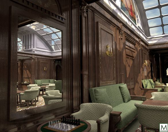 Rms Mauretania Interiors Gallery Mauretania Smoking