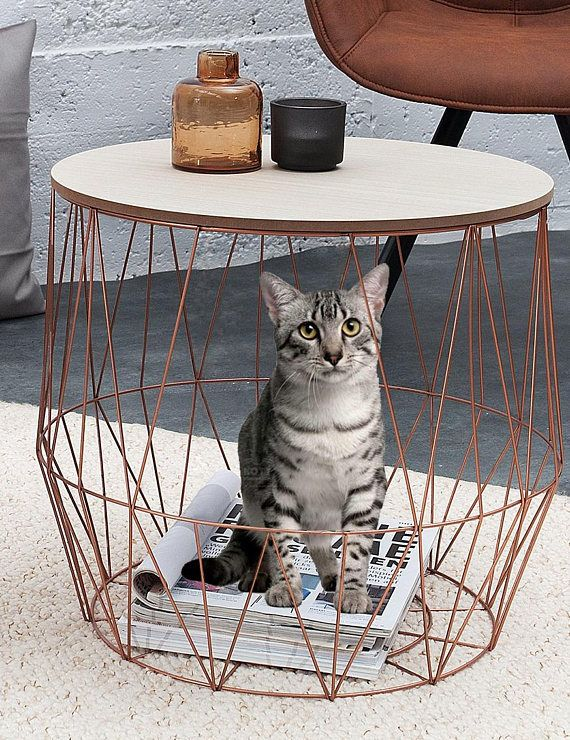 Metal Basket With Holes : Best wire side table ideas on pinterest rustic