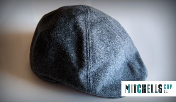 Mens Custom Winter Wholesale Hats : Mens Cheese Cutter hat in a classic style, on a wool fabric. Grey, minimal and great for the commute to the office.