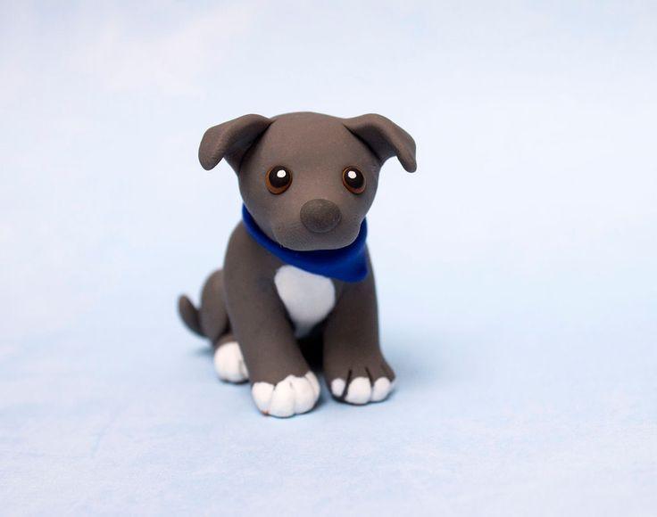Blue Pitbull pup by SculpyPups.deviantart.com on @DeviantArt
