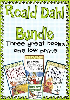 Kids love these books!  Three books are included in this bundle, complete with discussion guide, comprehension check, vocabulary activity and literature folder idea. Roald Dalh Literature Bundle