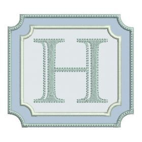 Fonts :: Font Frames :: Double Square Font Frame