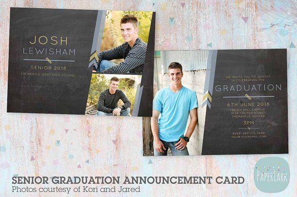 AG010 Guys Senior Graduation Card by Paper Lark on @omairsart