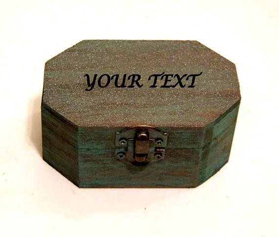 Personalized Jewelry Wedding Ring Holder Custom Ring Box