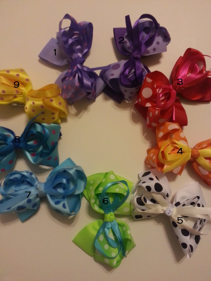Large hair bow  Big hair bows  Girls hair bows  by AllAboutBow, 4 for $10.00