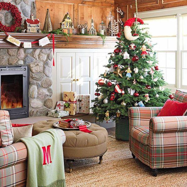 Schöne Weihnachten Wohnzimmer -    wohnideennde - wohnzimmer deko weihnachten