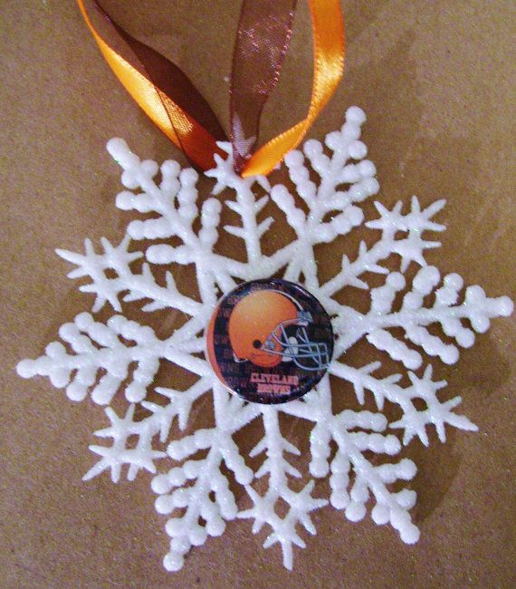 Cleveland BROWNS Football Fans Christmas Ornament by ZZsTeamTime