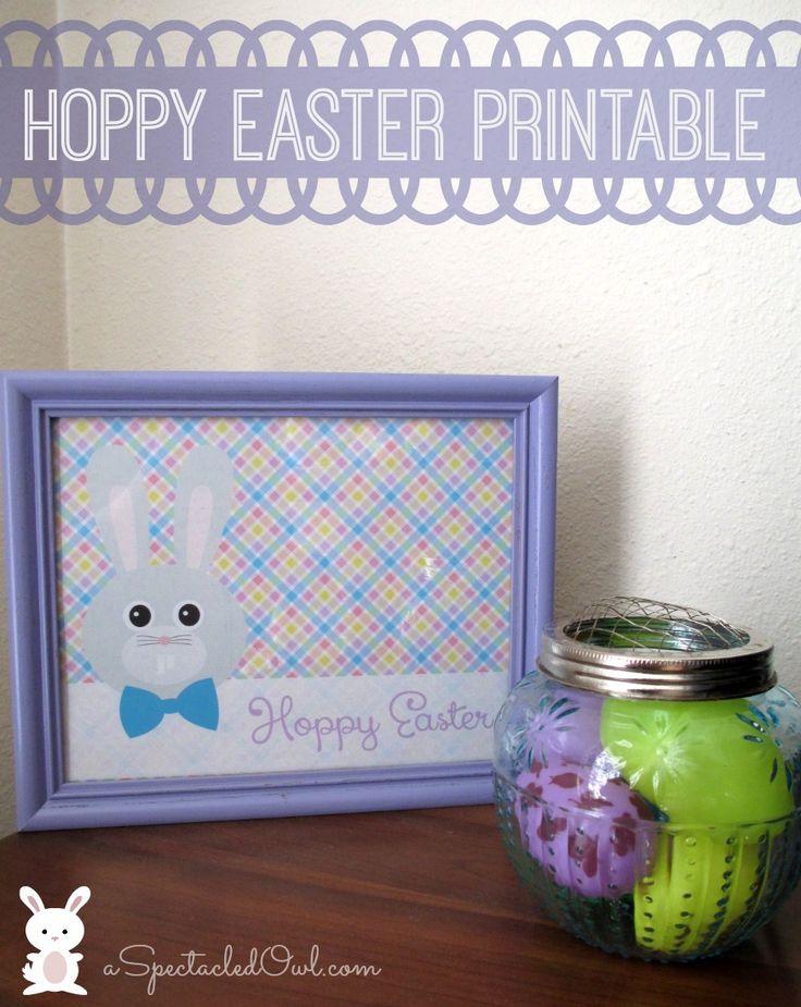 """Hoppy Easter"" Bunny Printable"