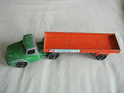 Vintage LONE STAR Die Cast Tray Truck. LS Transport Co. 1960-70's. England