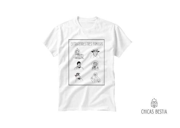 Playera color blanco, cuello redondo 100% algodón peinado Textura suave / Peso ligero Tallas: CH, M y G Hecho en México por Chicas Bestia