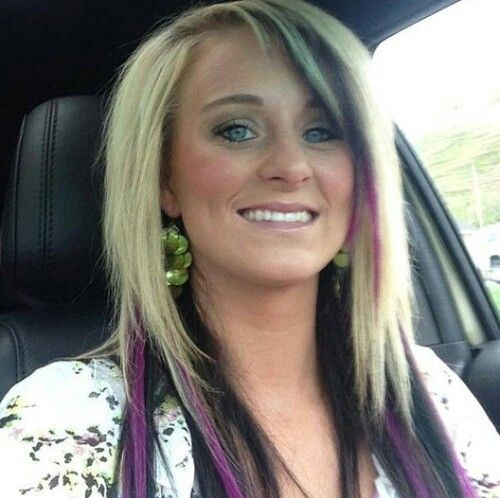 Love the purple in Leah Messer Culvert hair (Teen Mom 2 star).