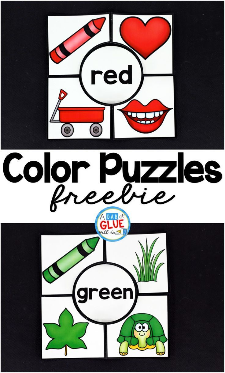 Free Color Puzzles that are great for preschool and kindergarten students. Perfect for teaching or reviewing colors.